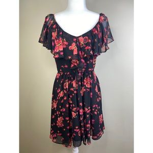 Betsy Johnson butterfly floral dress
